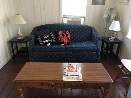 West Yarmouth Cape Cod vacation rental - Living room with pull out sofa bed.