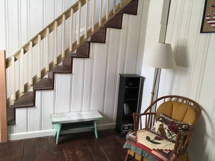 West Yarmouth Cape Cod vacation rental - Reading nook and stairs.