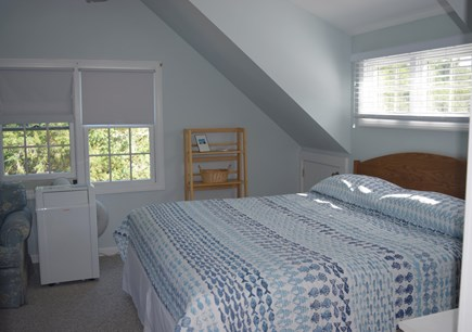 Orleans Cape Cod vacation rental - King, twin bunk, couch and TV in large bedroom with view of bay