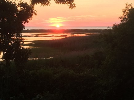 Orleans Cape Cod vacation rental - Sunset from back deck