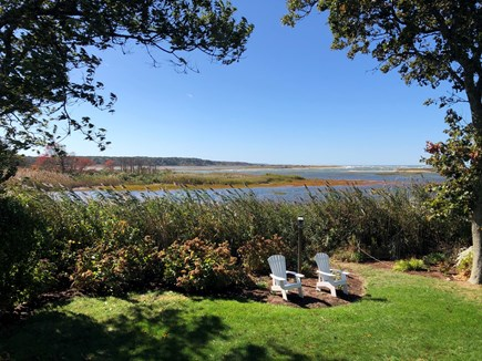 Orleans Cape Cod vacation rental - View of Rear Yard & Marsh at High Tide