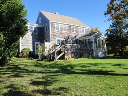 Orleans Cape Cod vacation rental - Large back yard with path to marsh