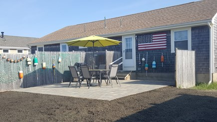 West Dennis Cape Cod vacation rental - Spacious brand new patio with gas grill and outdoor shower