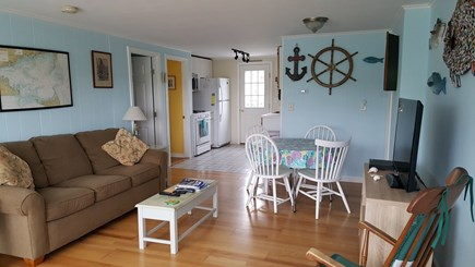 West Dennis Cape Cod vacation rental - Welcome to the living room and dining area