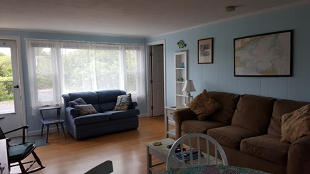 West Dennis Cape Cod vacation rental - Living room with a queen size sofa bed