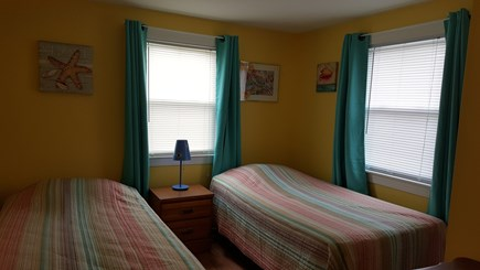 West Dennis Cape Cod vacation rental - Back bedroom with two twin size beds