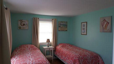 West Dennis Cape Cod vacation rental - Front bedroom with two twin size beds