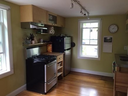 provincetown Cape Cod vacation rental - Kitchen with Collapsible dining table and chairs