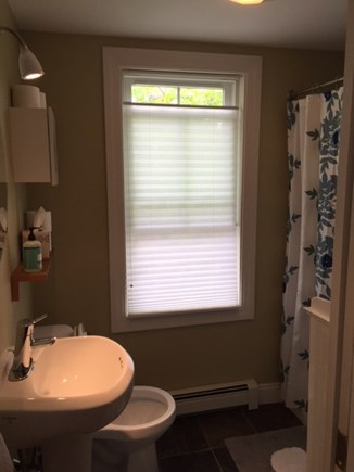 provincetown Cape Cod vacation rental - Bathroom with full sized-tub and shower.
