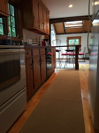 Eastham Cape Cod vacation rental - Fully applianced kitchen with dishwasher. Bright dining area.