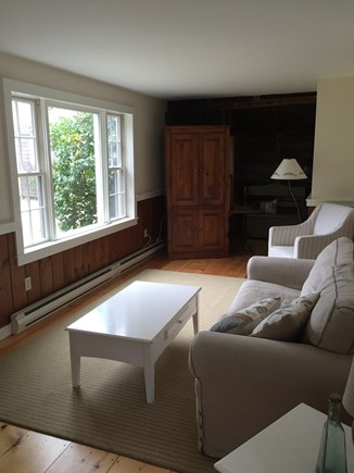 Eastham Cape Cod vacation rental - Living room with large picture window.