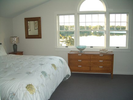 South Dennis Cape Cod vacation rental - Master bedroom on second floor with water view!