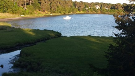 South Dennis Cape Cod vacation rental - View off deck and also dining room window