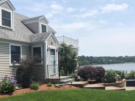 South Dennis Cape Cod vacation rental - Front view. Note upper deck great for happy hour