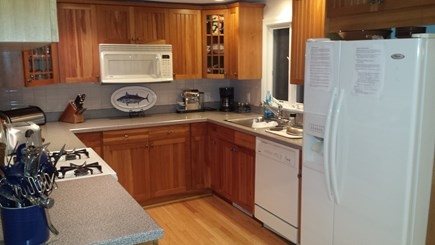 South Dennis Cape Cod vacation rental - Kitchen - well stocked with quality dishes, glasses, accessories