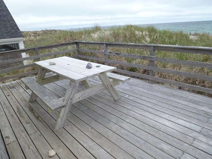 Sandwich Cape Cod vacation rental - Enjoy the direct water front deck and listen to the waves.