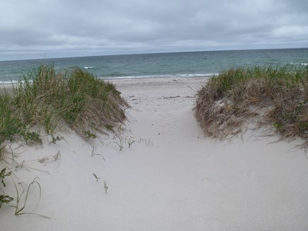 Sandwich Cape Cod vacation rental -   Direct water frontage. Step off the deck and into the sand.