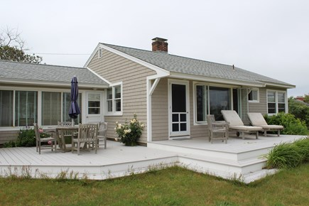 Eastham Cape Cod vacation rental - Cottage facing the ocean (front deck and outdoor eating area)