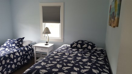 West Dennis Cape Cod vacation rental - 2nd Bedroom with Double and Twin Bed.
