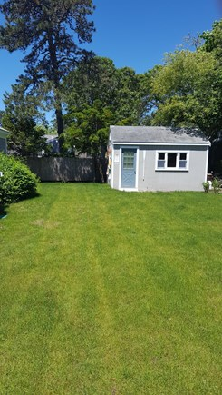 West Dennis Cape Cod vacation rental - Private Backyard w plenty of room. Grill and eat in privacy