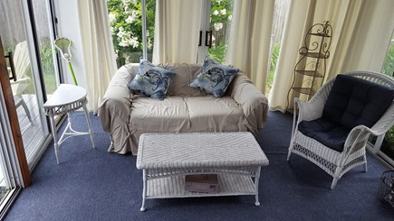 West Dennis Cape Cod vacation rental - Three season porch with pullout sofa. Best Room in house!