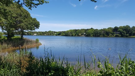 West Dennis Cape Cod vacation rental - Kelly's Pond. Great Freshwater Pond for swimming and boating