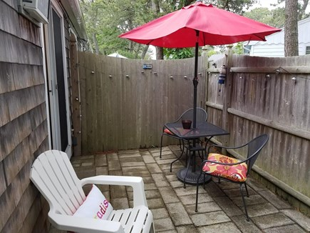 Dennis Port Cape Cod vacation rental - Step outside to enjoy your shaded table on your private patio