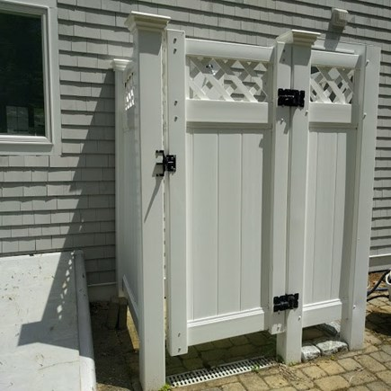 Pocasset, Bourne Pocasset vacation rental - Shower at the rear of the house