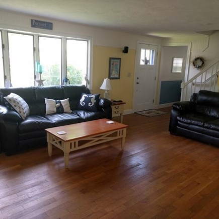 Pocasset, Bourne Pocasset vacation rental - Family room leading to 2nd floor and den area with pocket door