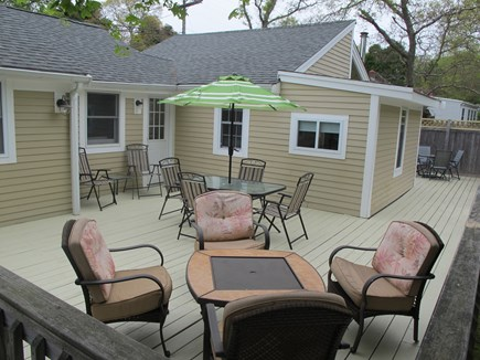 Hyannis, Barnstable Cape Cod vacation rental - Spacious deck, seats 10, BBQ grill