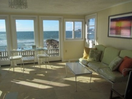 Falmouth Cape Cod vacation rental - Sunroom over looking the beach