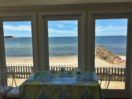 Falmouth Cape Cod vacation rental - Sun room over looking the beach!