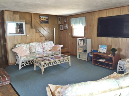 Falmouth Cape Cod vacation rental - Living room with big screen TV