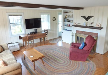 West Chatham in Hardings Beach Cape Cod vacation rental - Living area with flatscreen TV with ESPN and WiFi internet access