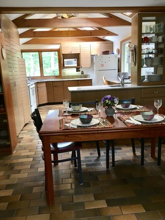 Eastham Cape Cod vacation rental - Eat-in kitchen with expandable table