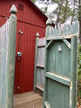 Eastham Cape Cod vacation rental - Outdoor shower adjacent to the one-room cabin