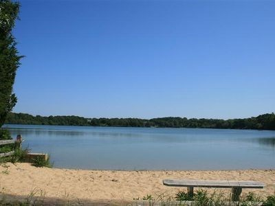 Eastham Cape Cod vacation rental - Herring Pond freshwater sandy beach 3/10 mile walk.