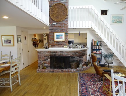 Mashpee Cape Cod vacation rental - Living room opens to Den, Dining and Kitchen