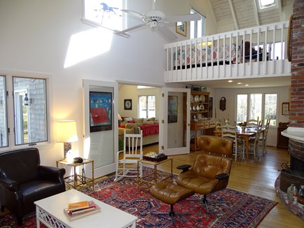 Mashpee Cape Cod vacation rental - View of main living area from base of stairs