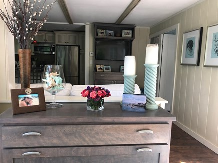 Eastham Cape Cod vacation rental - View of kitchen/living area from sunroom.