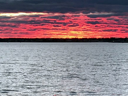 West Yarmouth Cape Cod vacation rental - Recent sunset on nearby Lewis Bay a short walk away