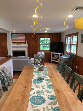 West Yarmouth Cape Cod vacation rental - Dining room table seats up to eight.