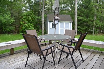 Falmouth, Teaticket Cape Cod vacation rental - Backyard deck