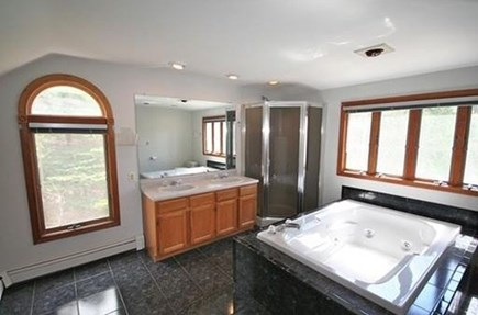 Falmouth, Teaticket Cape Cod vacation rental - Huge master bath with over-sized jacuzzi tub, bidet & shower