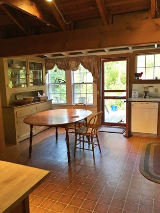 Brewster Cape Cod vacation rental - County kitchen leading to back deck