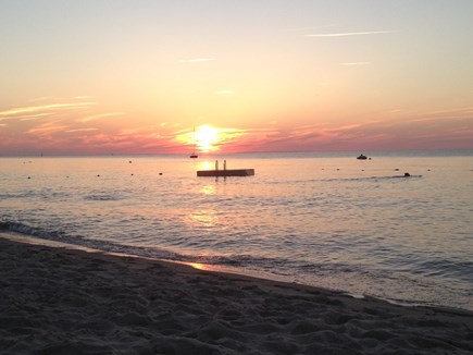 Brewster Cape Cod vacation rental - Private beach at sunset
