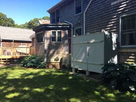 Falmouth Heights Cape Cod vacation rental - Enclosed Shower w/ H/C water, bench seating & dressing area