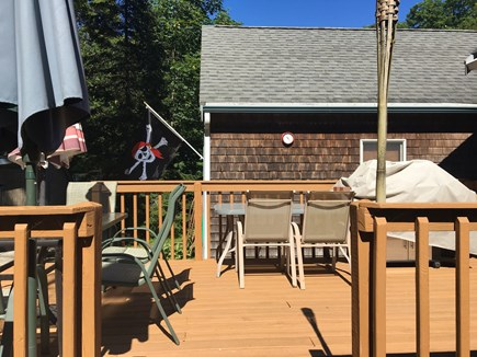 Falmouth Heights Cape Cod vacation rental - Deck (cont.) - Gas grill & 2 Tables