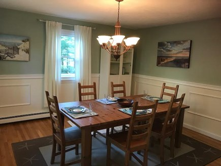 Mashpee Cape Cod vacation rental - Oversized dining room with two expanded leaves