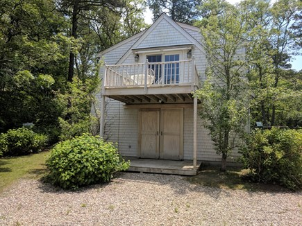 Harwich Cape Cod vacation rental - Separate garage with living area above.